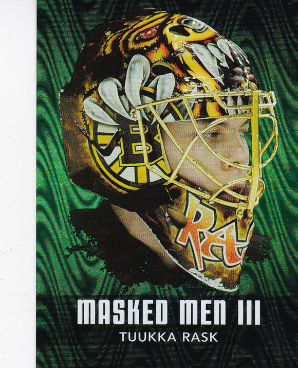 Tuukka Rask 2010-11 Between The Pipes Masked Men 3 card MM-50 Emerald