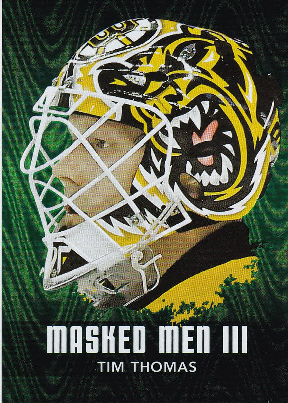 Tim Thomas 2010-11 Between The Pipes Masked Men 3 card MM-48 Emerald