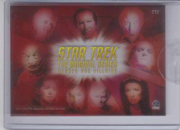 Star Trek the Original Series Heroes and Villians Case Topper card CT2