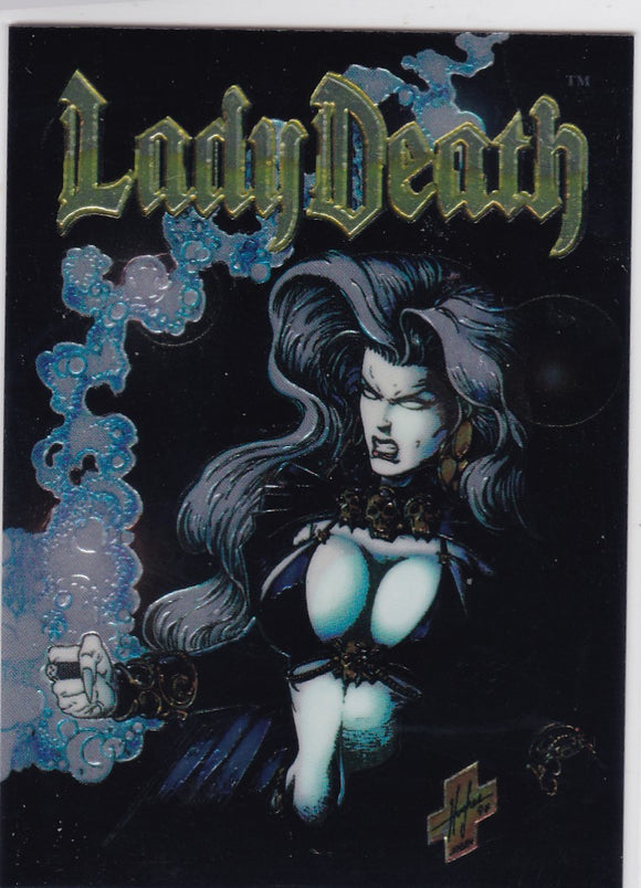 Lady Death Between Heaven and Hell Chromium Promo card