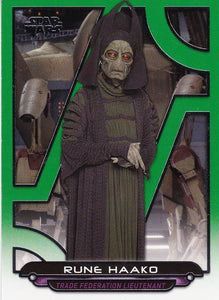 Star Wars Galactic Files Reborn card TPM-15 Green Parallel #d 073/199