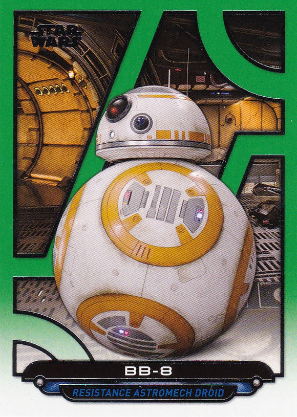 Star Wars Galactic Files Reborn card TFA-4 Green Parallel #d 086/199