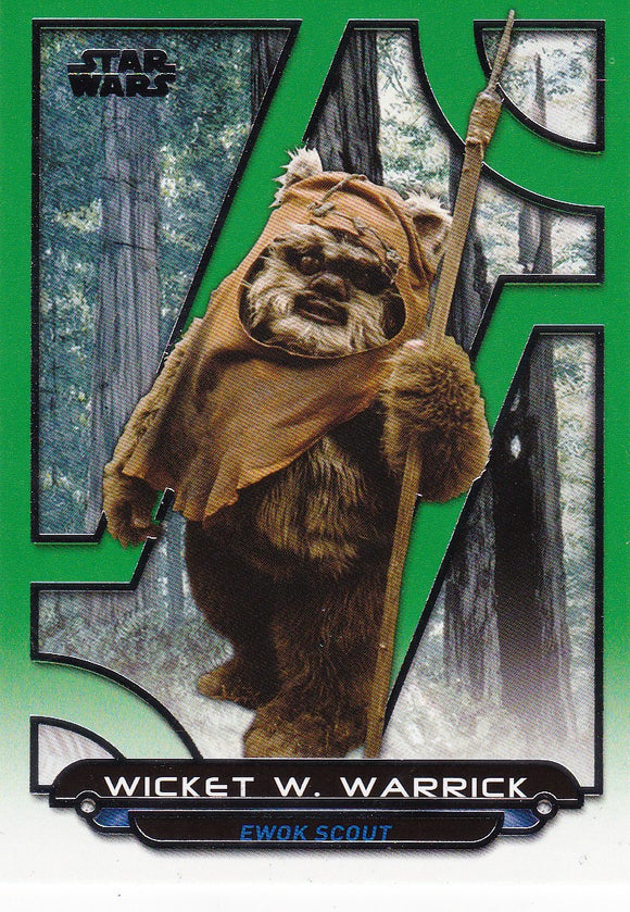 Star Wars Galactic Files Reborn card ROTJ-3 Green Parallel #d 082/199