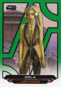 Star Wars Galactic Files Reborn card ROTJ-5 Green Parallel #d 010/199