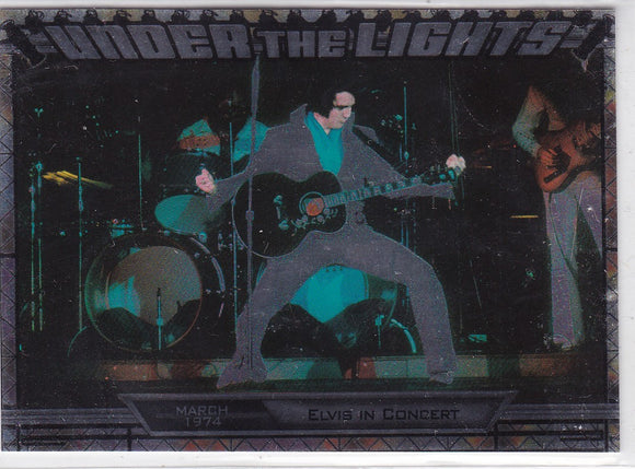 2010 Press Pass Elvis Milestones Under The Lights insert card UTL 8/12