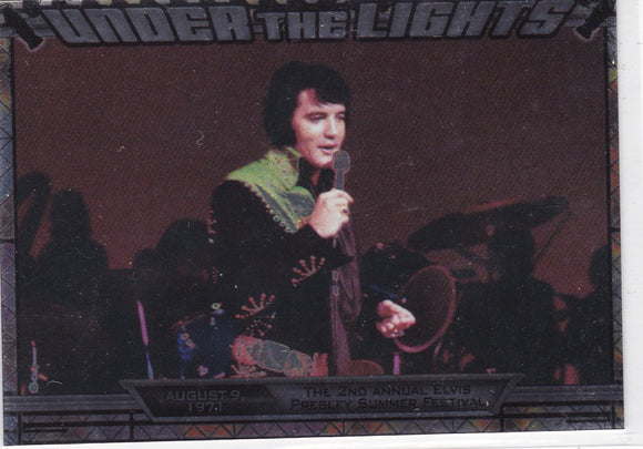 2010 Press Pass Elvis Milestones Under The Lights insert card UTL 5/12
