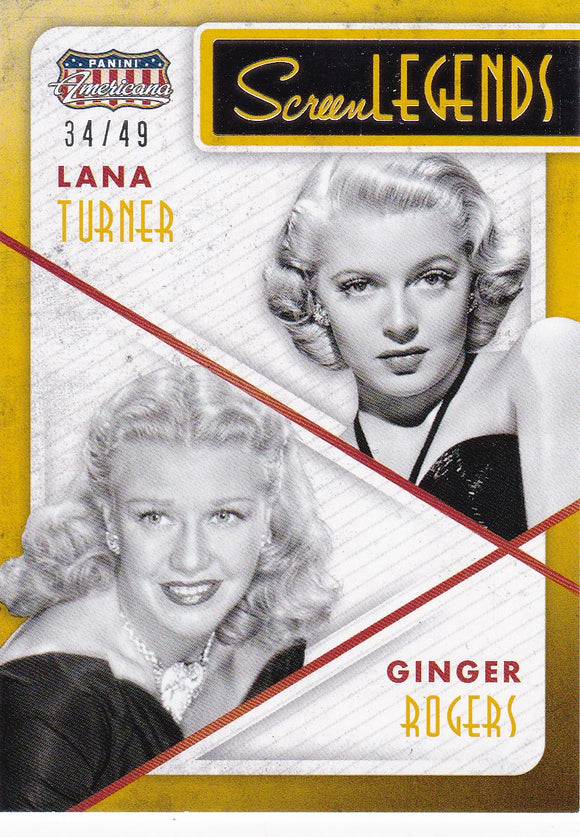 Lana Turner Ginger Rogers 2015 Americana Screen Legends #10 Gold #d 34/49