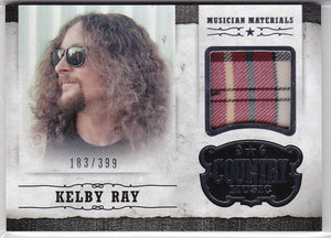 Kelby Ray 2014 Panini Country Music Musician Materials Relic M-KR 183/399