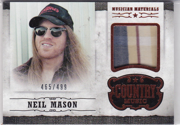 Neil Mason 2014 Panini Country Music Materials Relic M-NM #d 465/499