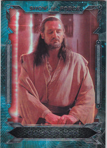2016 Star Wars Masterwork Show Of Force card SF-6 Qui Gon Jinn