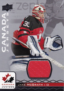 Jake McGrath 2017-18 Team Canada Juniors Jersey card #59