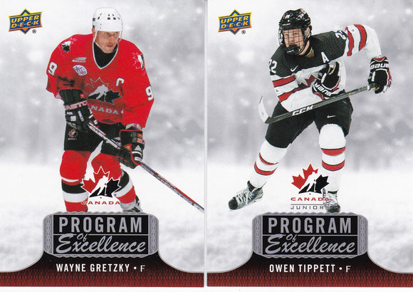 2017-18 Team Canada Juniors Program Of Excellence cards Choose your numbers