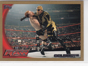 Goldust 2010 Topps WWE card #31 Gold Parallel #d 33/50