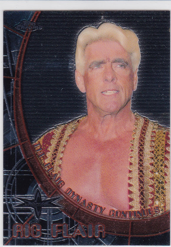 Ric Flair David Flair 1999 Topps Chrome WCW Wrestling Double Sided Insert card