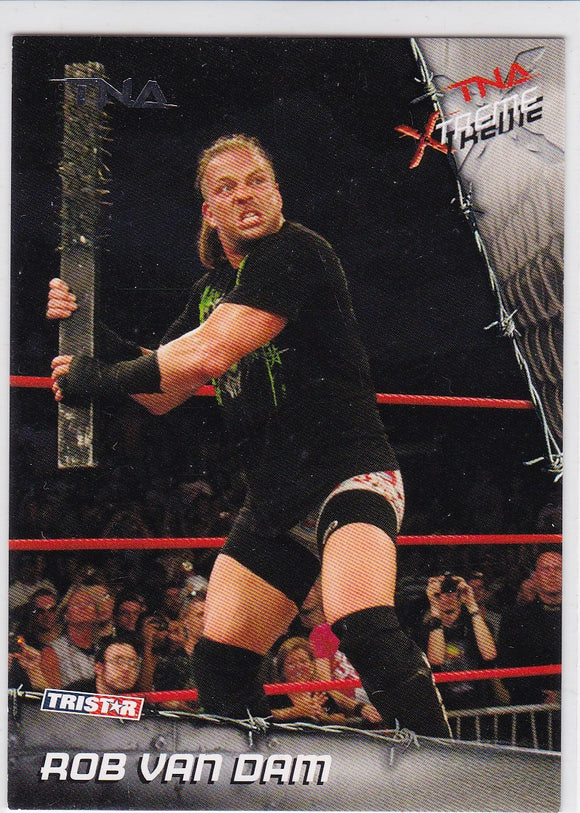 Rob Van Dam 2010 Tristar TNA Xtreme Wrestling card #32 Silver Parallel #d 01/40