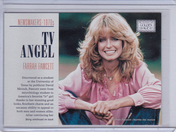 2014 Golden Age Newsmakers Insert card #8 TV Angel Farrah Fawcett