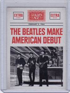 2014 Golden Age Headlines Insert card #7 The Beatles
