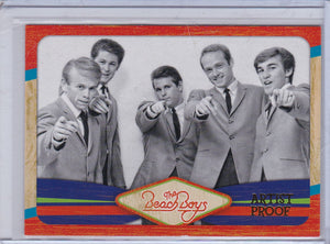2013 Panini The Beach Boys card 2 Artist Proof #d 84/99