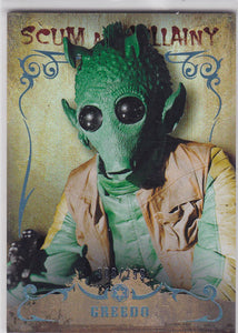 Star Wars Masterwork 2015 Scum & Villainy Rainbow Foil SV-3 Greedo 008/299