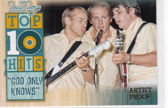 2013 Panini The Beach Boys Top 10 Hits Insert card #15 Artist Proof #d 93/99