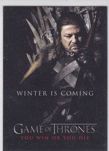 Game Of Thrones Season 1 You Win Or You Die Insert SP1 Ned Stark