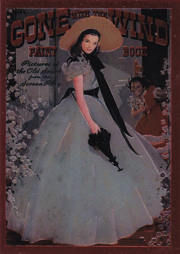 Gone With The Wind Chromium Insert card C2 Scarlett O'Hara