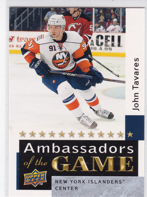 John Tavares 2009-10 Upper Deck Ambassadors Of The Game card AG56 SP