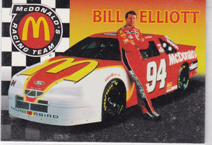 Bill Elliott 1996 Collect-A-Card Mcdonald's Racing Team Insert MBE-1