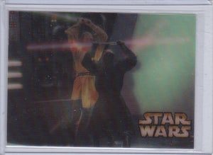 2002 Energizer Canada Star Wars Lenticular Motion card Qui Gon Ginn Vs Darth Maul