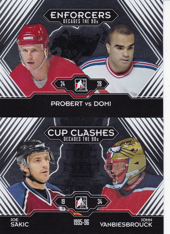 2013-14 ITG Decades The 90's Hockey base cards 101 to 200 choose your numbers