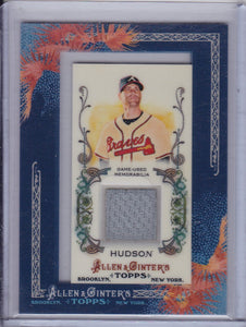 Tim Hudson 2011 Topps Allen & Ginter's Game Used Memorabilia Relic card AGR-TH