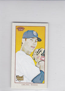 Wade LeBlanc 2009 Topps T-206 Mini Cycle back card #151 #d 42/99