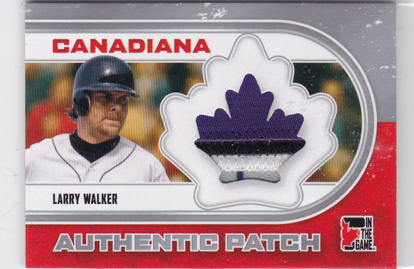 Larry Walker 2011 ITG Canadiana Authentic 4 Color Patch card AP-07