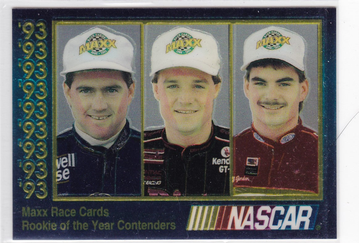 Labonte Wallace Gordon 1993 Maxx Nascar Rookie Of The Year Contenders Card