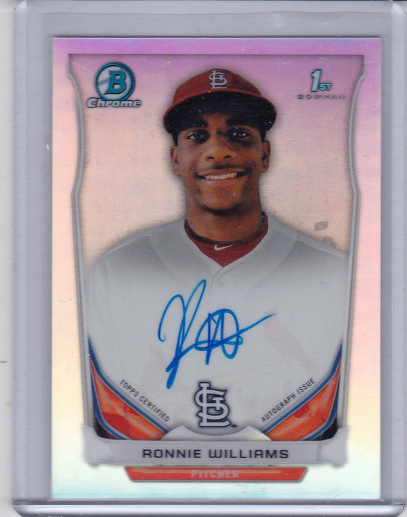 Ronnie Williams 2014 Bowman Chrome Draft Autograph card BCA-RW