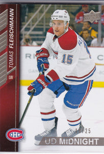 Tomas Fleischmann 2015-16 Upper Deck UD Midnight card #354 #d 18/25