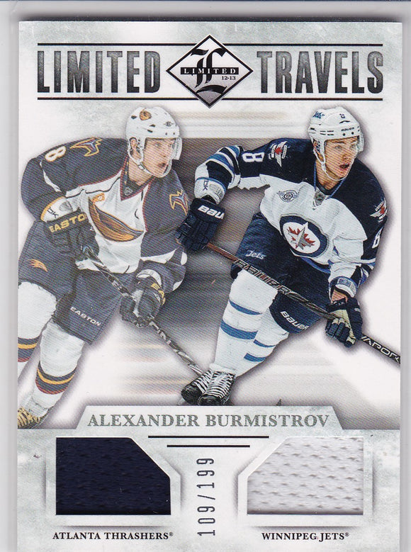 Alexander Burmistrov 2012-13 Limited Travels Jersey card TD-AB #d 109/199