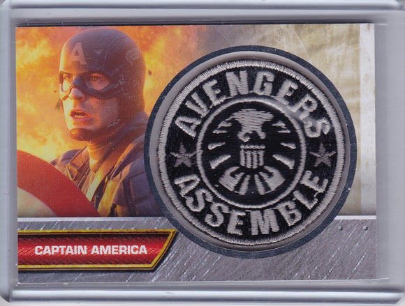 Captain America Movie Avengers Assemble Patch card I-4
