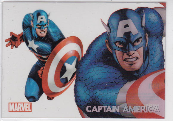 Marvel 70th Anniversary Clearly Heroic card PC1 Captain America