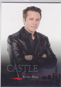 Castle Seasons 1 & 2 Character Bios Insert card C4 Kevin Ryan