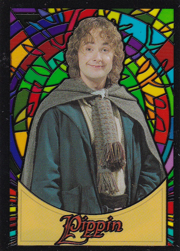 Lord Of The Rings Evolution Stained Glass Insert card S9 Pippin