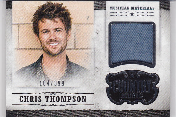 Chris Thompson 2014 Panini Country Music Musician Materials Relic M-CT 104/399