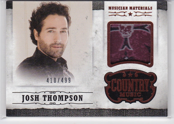 Josh Thompson 2014 Panini Country Music Musician Materials Relic M-JT 410/499