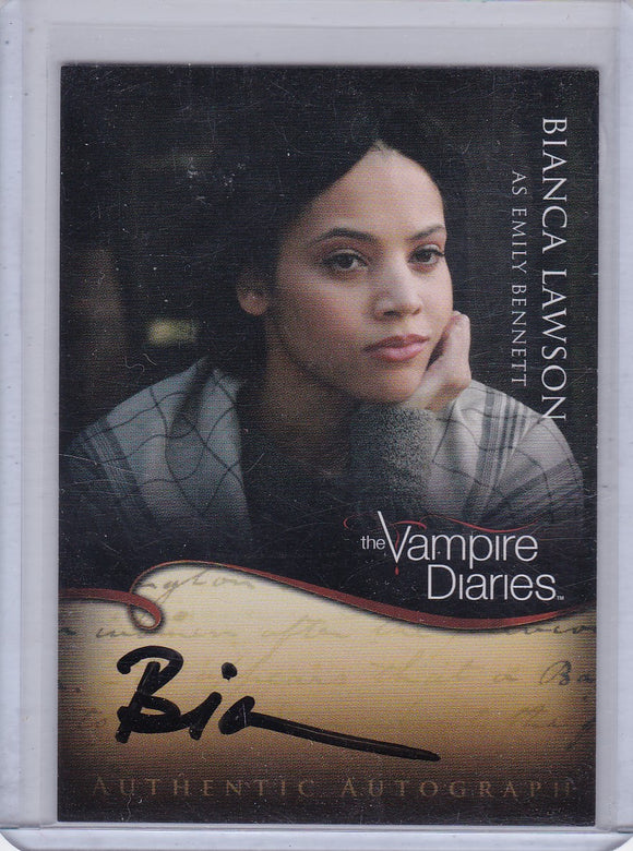 Vampire Diaries Season 1 Bianca Lawson as Emily Bennett Autographed card A20