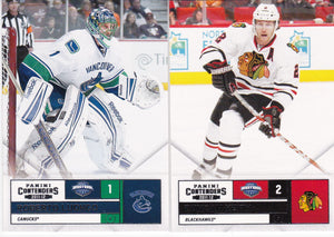2011-12 Panini Contenders Hockey Cards Choose Your Number from the list