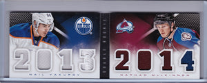 Nathan Mackinnon Nail Yakupov 2013-14 Playbook Double Rookie Book DR-YMK