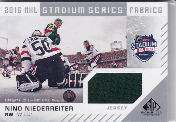 Nino Niederreiter 2016-17 SP Authentic Stadium Series Jersey card MW-NN