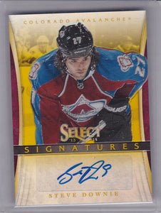 Steve Downie 2013-14 Select Signatures Autograph card SI-DW Gold 05/50