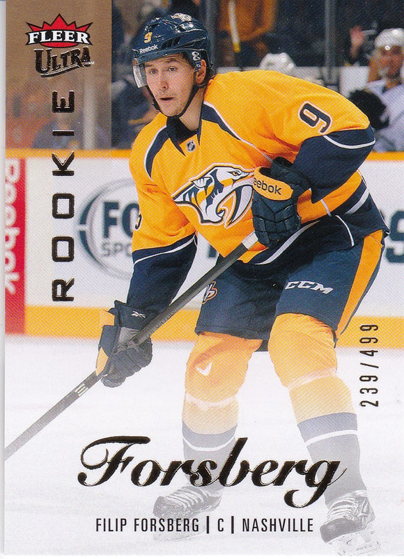 Filip Forsberg 2013-14 Showcase Fleer Ultra Rookie card #59 #d 239/499