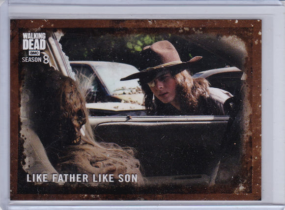 Walking Dead Season 8 card #3 Like Father Like Son Mud parallel #d 25/50